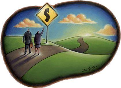 Warnung: Vor der Erholung kommt die enge Kurve