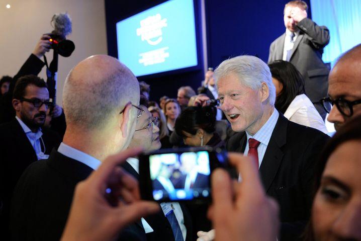 Bill Clinton: 2011 kam der ehemalige US-Präsident noch mal nach Davos