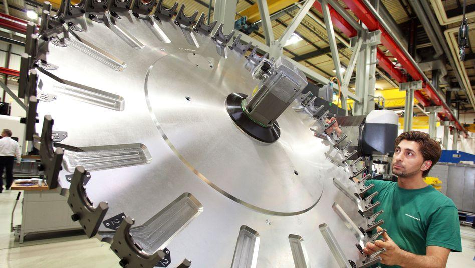 Großes Rad stockt: In allen wichtigen Absatzregionen ging die Nachfrage nach deutschen Maschinenbau-Produkten zurück