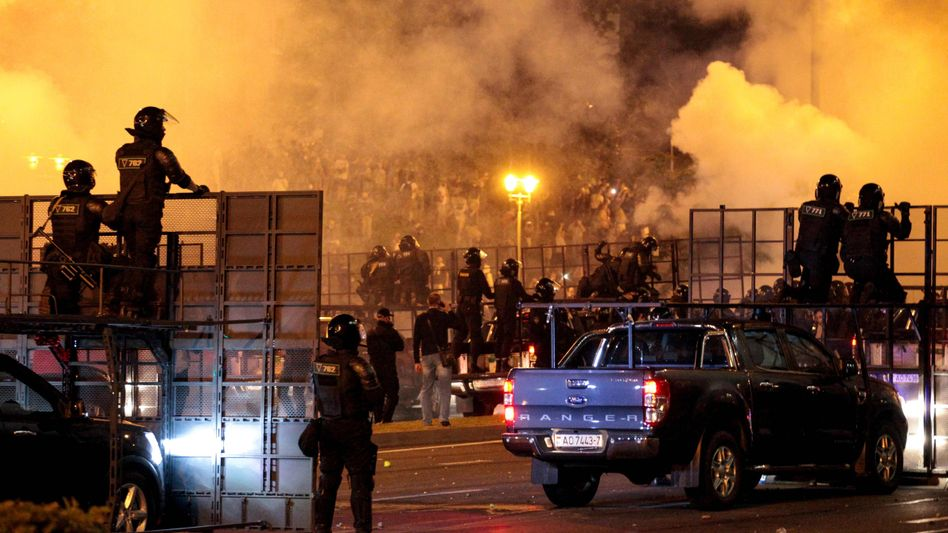 Polizeiaufgebot in Minsk