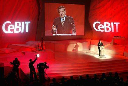 Prominenter Dauergast: Bundeskanzler Gerhard Schröder