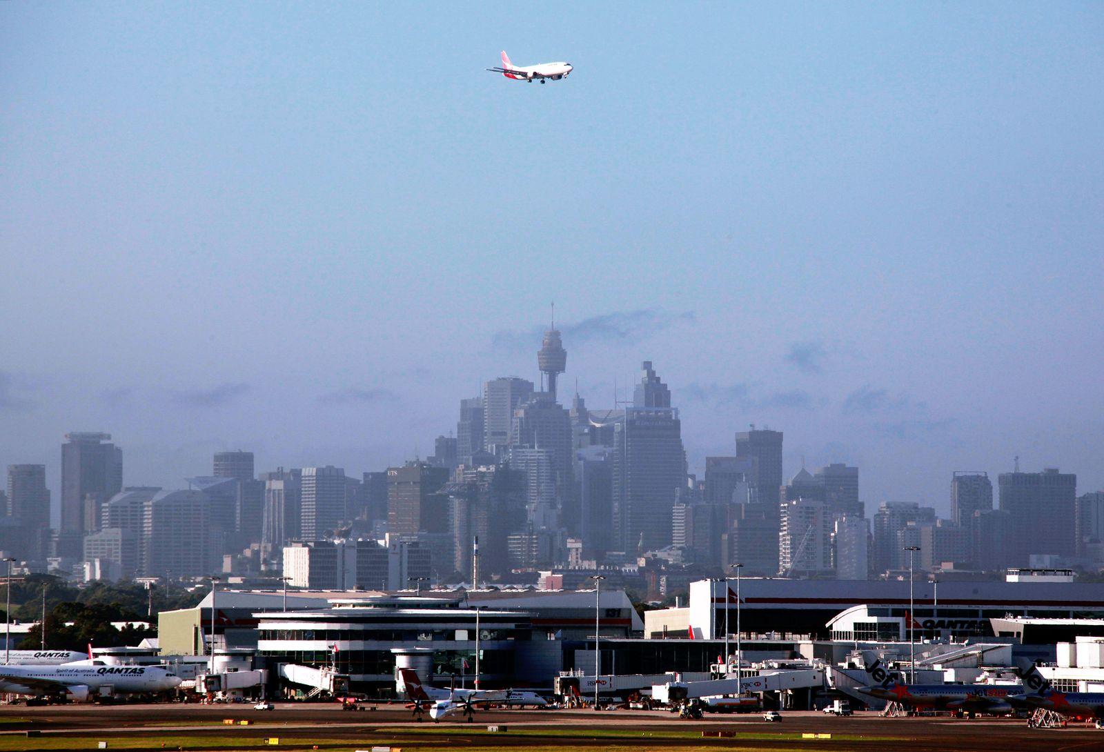 Flughafen/ Pünktlichkeit/ Sydney