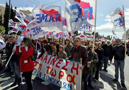 Proteste in Griechenland (Anfang März 2010): Widerstand gegen Methode der Staatssanierung