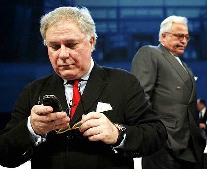 Abgetreten: Ex-Deutsche-Börse-Chef Werner G. Seifert (l.) und Aufsichtsratschef Rolf-E. Breuer mussten ihre Jobs nach Aktionärsprotesten aufgeben