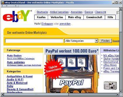 Versteigern im Internet: Ebay erzielte im ersten Quartal ein Umsatzplus von 35 Prozent