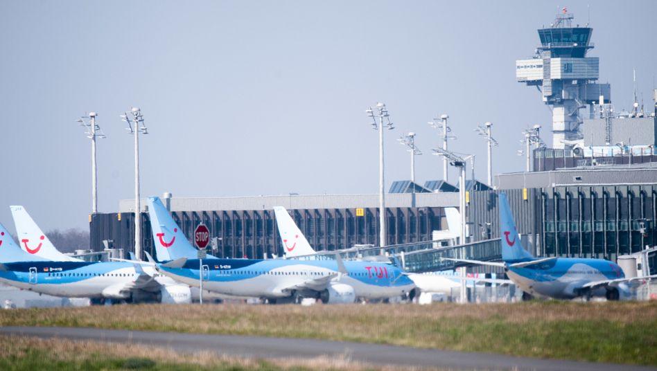 Tui-Flieger am Boden: Der Reisekonzern hat Mitte März Staatshilfe beantragt