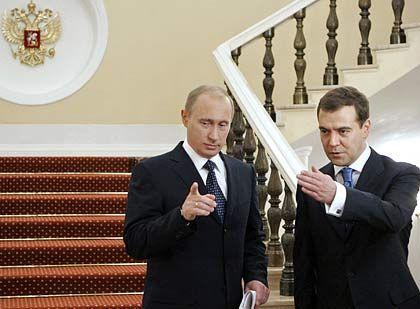 Alte Vertraute: Präsident Putin und sein designierter Nachfolger Medwedew