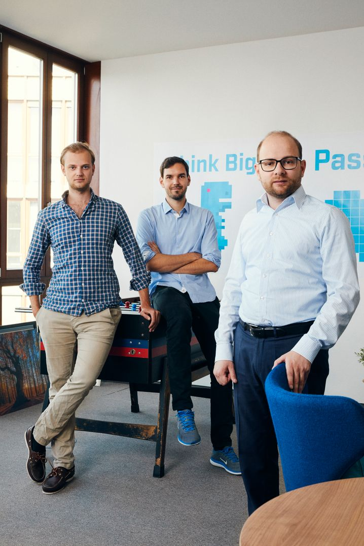 """Alexander Rinke (l.), Martin Klenk (M.) und Bastian Nominacher: """"Wir wollen Weltmarktführer werden"""""""