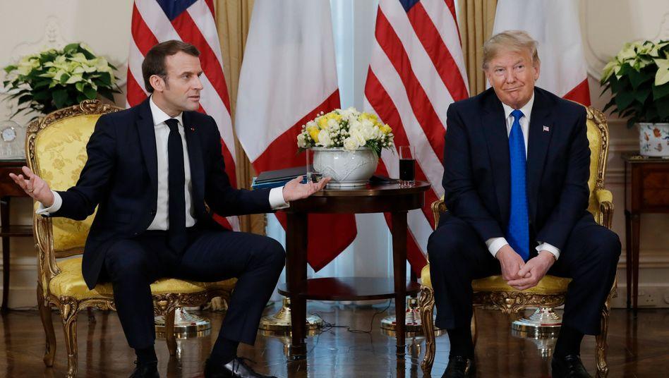 Trump, Macron beim Nato-Gipfel in London