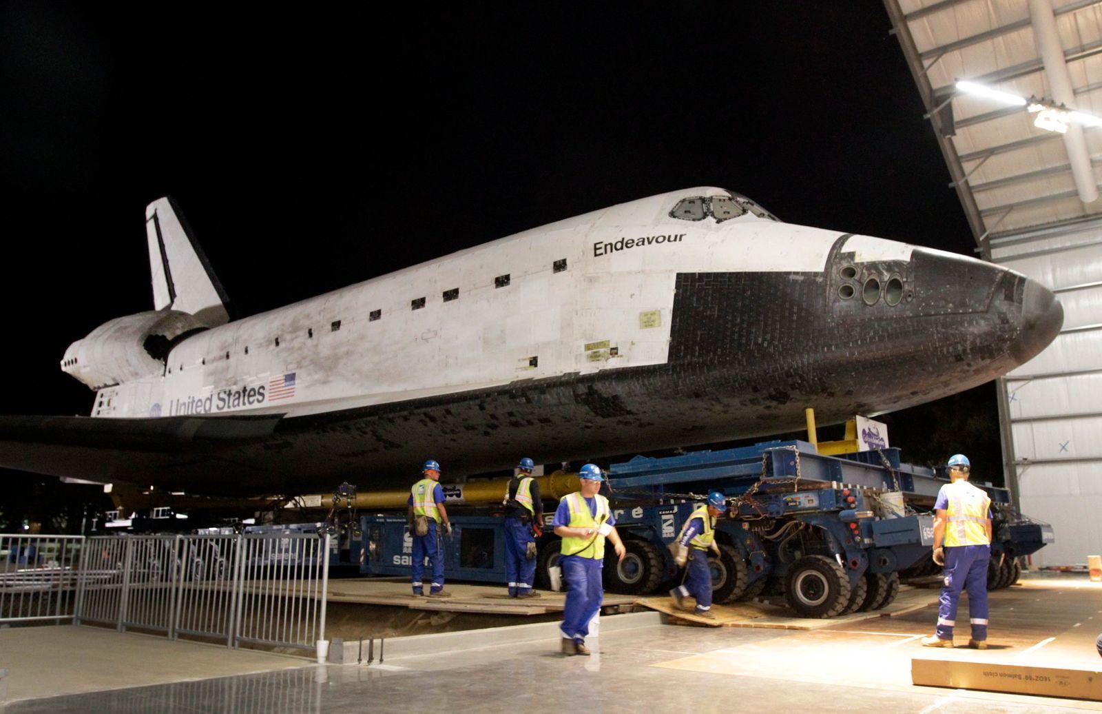 Shuttle «Endeavour» endlich am Ziel