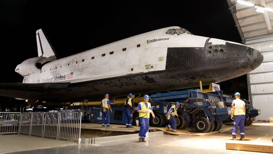 """Shuttle """"Endeavour"""": Die ausgemusterte Raumfähre kann künftig in Südkalifornien besichtigt werden"""