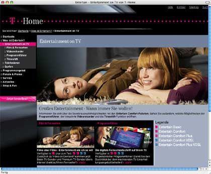 Telekom-Angebot T-Home: Als erster IPTV-Dienst in Deutschland sollte T-Home noch 2007 sechsstellige Kundenzahlen erreichen. Das Ziel gilt in der Branche längst als utopisch.