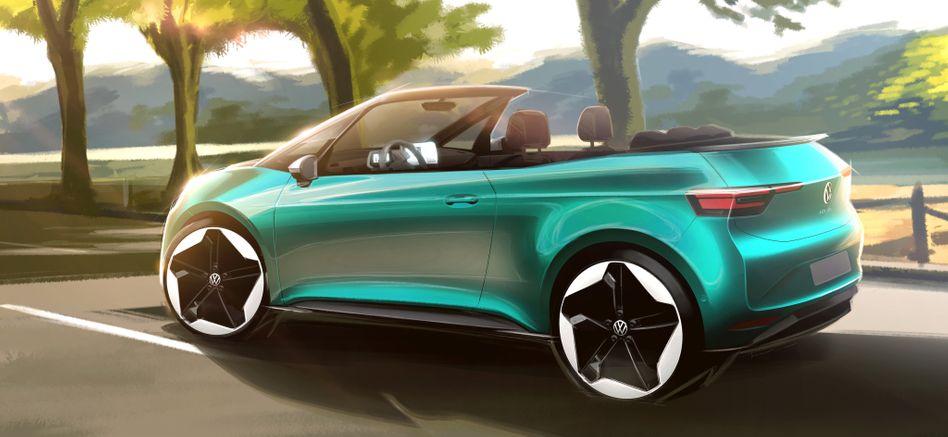 Skizze: Mehr Konzept als dieses Bild gibt Volkswagen nicht preis