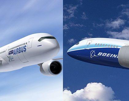 Auf Russlands Einkaufsliste: Zwischen dem Airbus A350 und der Boeing 787 soll die Entscheidung fallen