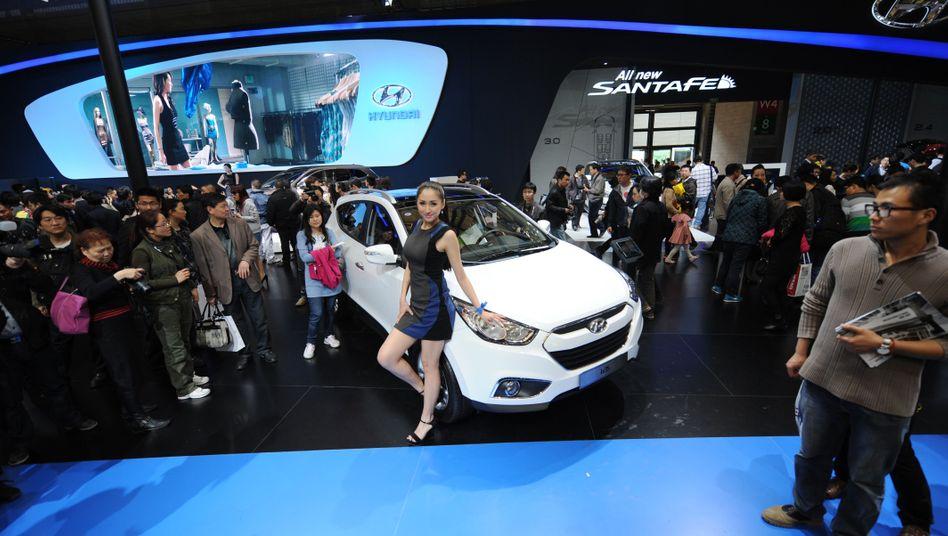 """Hyundai-Messestand in Shanghai: """"Ab 2015 wieder Wachstum ein Europa"""""""