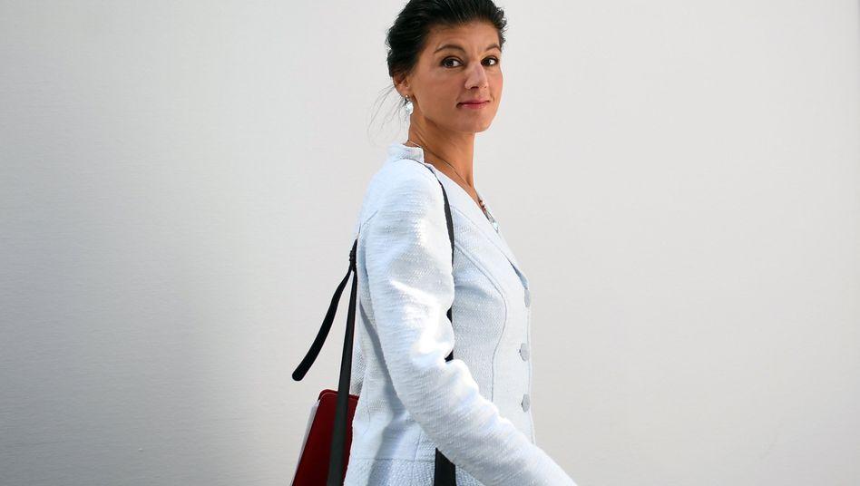 Auf ins Bellevue: Linken-Fraktionschefin Sahra Wagenknecht wird in der kommenden Woche ebenfalls mit Bundespräsident Steinmeier sprechen - genauso wie Vertreter der AfD