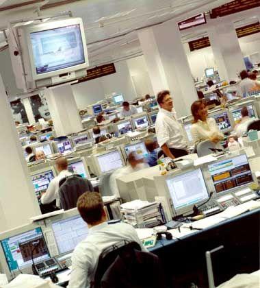 Weltweit knapp 70.000 Beschäftigte: Handelsraum der Deutschen Bank