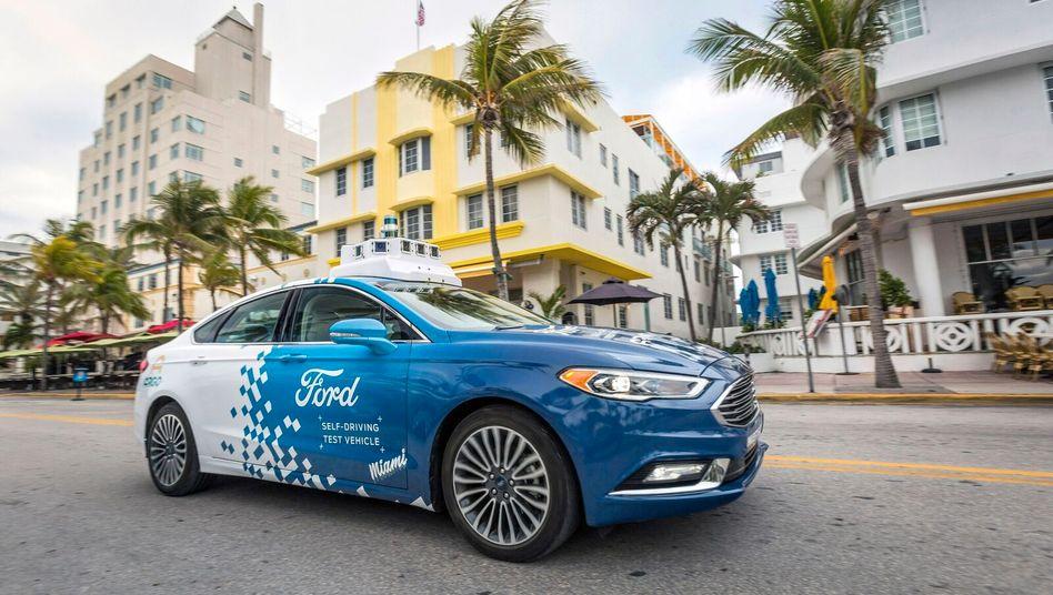 Roboterauto-Prototyp der Ford-Tochter Argo.AI in Miami