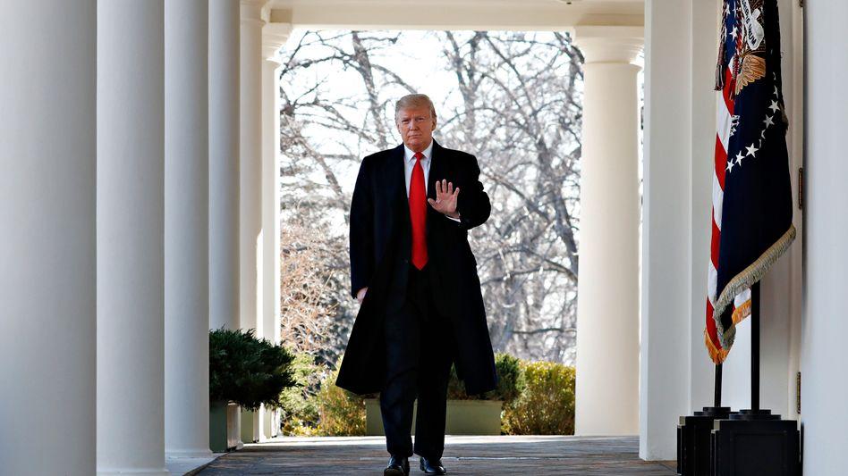 US-Präsident Donald Trump kurz vor Bekanntgabe des Deals zum Shutdown-Ende am Freitag
