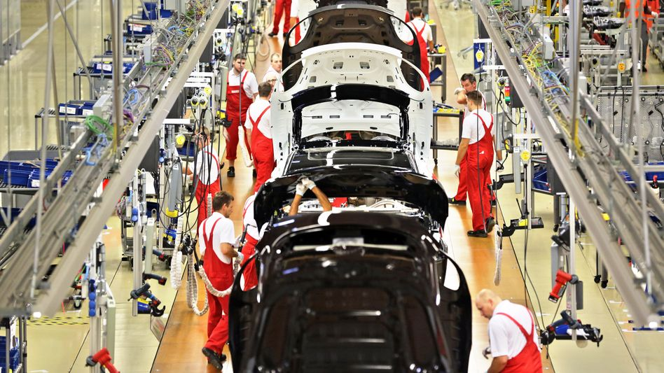 Panamera-Produktion bei Porsche