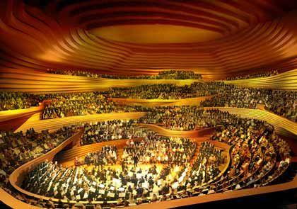 Das Orchester bildet den Mittelpunkt: Der große Musiksaal der Elbphilharmonie