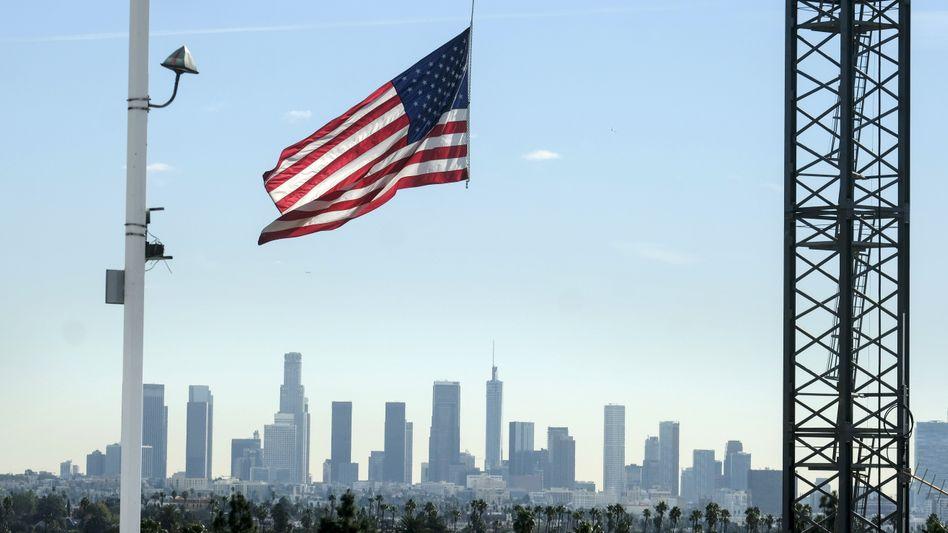 Baustelle in Los Angeles: Die US-Wirtschaft ist von der Coronakrise schwer getroffen