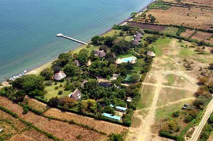 Hat eigene Landepiste: Rusinga Lodge am Victoria See