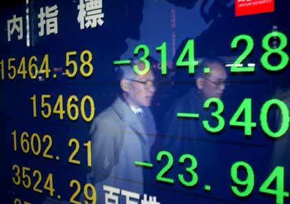 Alles grün: In Japan ist ein Ende der Deflation in Sicht. Der Nikkei steigt weiter