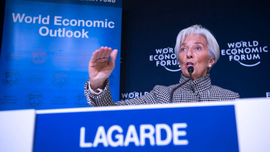 IWF-Chefin Christine Lagarde beim Weltwirtschaftsforum in Davos