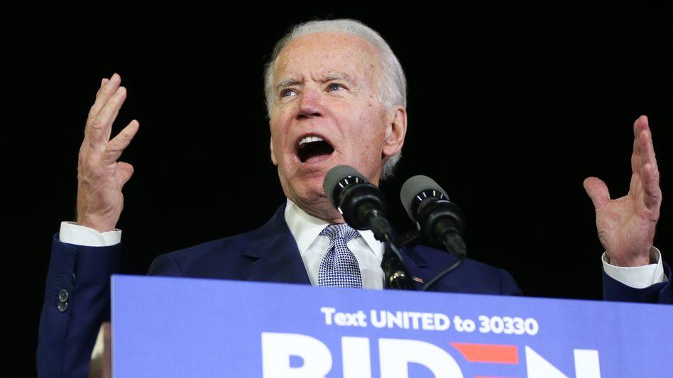 Nächster US-Präsident: Joe Biden bei einer Wahlkampfveranstaltung