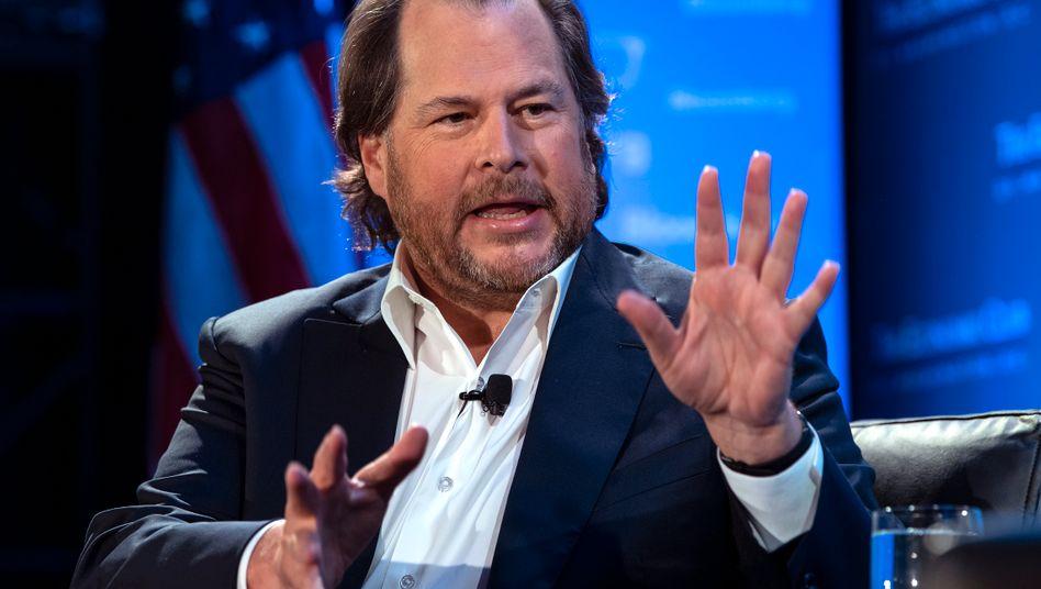 Marc Benioff: Gründer, Chairman und jetzt auch alleiniger CEO von SAP-Konkurrent Salesforce