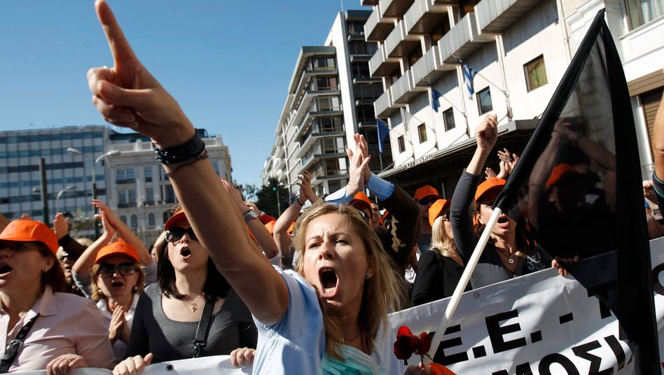 """Proteste in Athen: """"Eine Streckung des Zeitplans könnte Sinn machen - wenn Hellas weiter spart"""""""