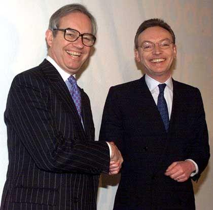 Historische Einigung: Vor vier Jahren wurde die Übernahme Mannesmanns durch Vodafone besiegelt