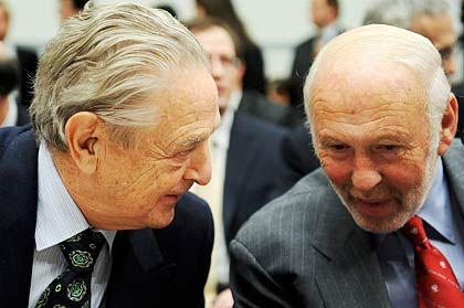 Weitgehend abgeschlossene Vermögensbildung: Die Hedgefondsmanager James Simons (rechts) und George Soros (links) kassierten 2008 gemeinsam 3,6 Milliarden Dollar