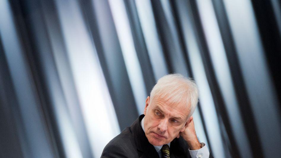 Manager unter Strom: Volkswagen-Chef Matthias Müller findet in den USA nicht die richtigen Antworten