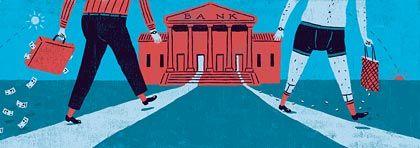 Her mit dem Ersparten:Der Bankentest zeichnet ein düsteres Bild vom Geschäft mit den Privatkunden