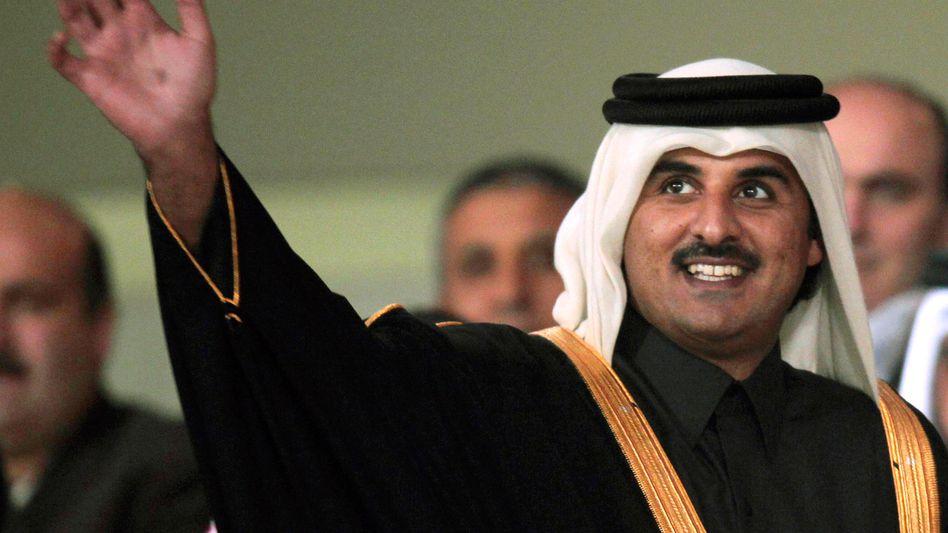 Tamim Bin Hamad Al Thani ist einer der jüngsten Staatschefs der Welt. Seit Juni 2013 amtiert der 34-Jährige als Emir des Golfstaats Katar