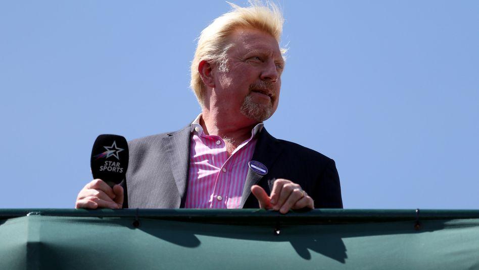 """Endlich mal wieder Tennis: Derzeit ist Boris Becker als TV-Experte in seinem """"Wohnzimmer"""" Wimbledon unterwegs"""