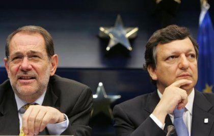 Die neuen Gesichter Europas: Der benannte Kommissionspräsident Barroso und der künftige EU-Außenminister Javier Solana