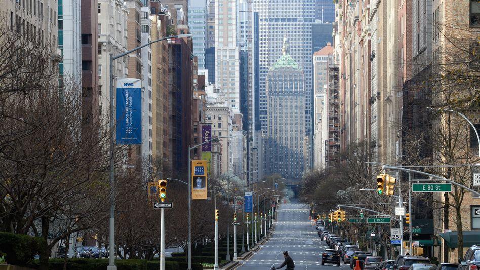 New York in Quarantäne: Die Wirtschaft steht still, die Börse stürzt