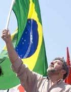 """Strebt an die Staatsspitze: Gewerkschaftsboss Luis """"Lula"""" da Silva liegt in den Umfragen weit vorn"""