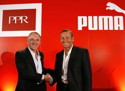 Sie sind sich einig: Puma-Chef Zeitz und PPR-Chef Francois-Henri Pinault, der zum Aufsichtsratschef des Sportartikelherstellers gewählt worden ist
