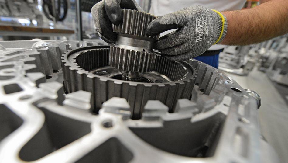Getriebeproduktion bei ZF im baden-württembergischen Friedrichshafen