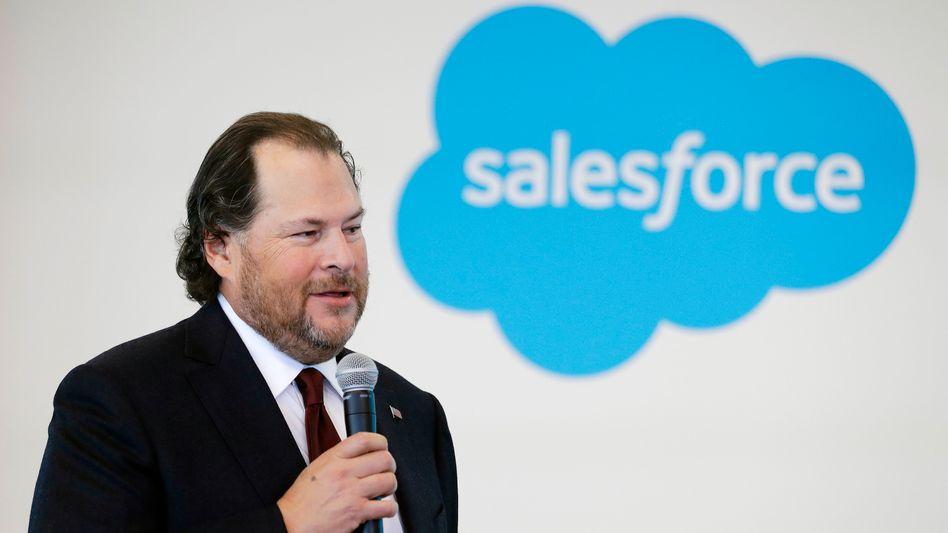 """""""Wir sind wie füreinander gemacht"""": Salesforce-Chef Marc Benioff feiert die Slack-Übernahme"""