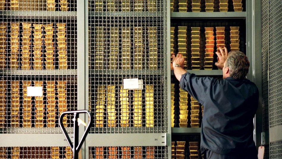 Gold im Tresor der Schweizerischen Nationalbank: minus 28 Prozent