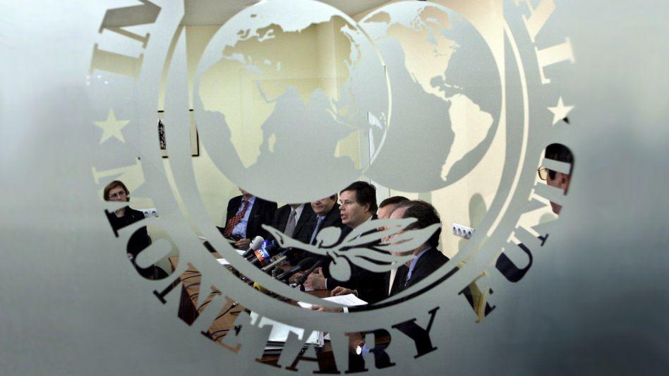 Konferenzraum des IWF: Konjunkturprognose zusammengestrichen