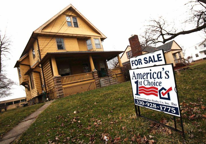 Leeres Wohnhaus in Ohio: Die Lage am US-Häusermarkt bleibt fragil