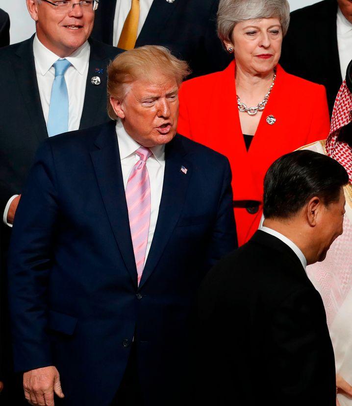 US-Präsident Donald Trump und Chinas Staatschef Xi Jinping auf dem G20-Gipfel im Juni.
