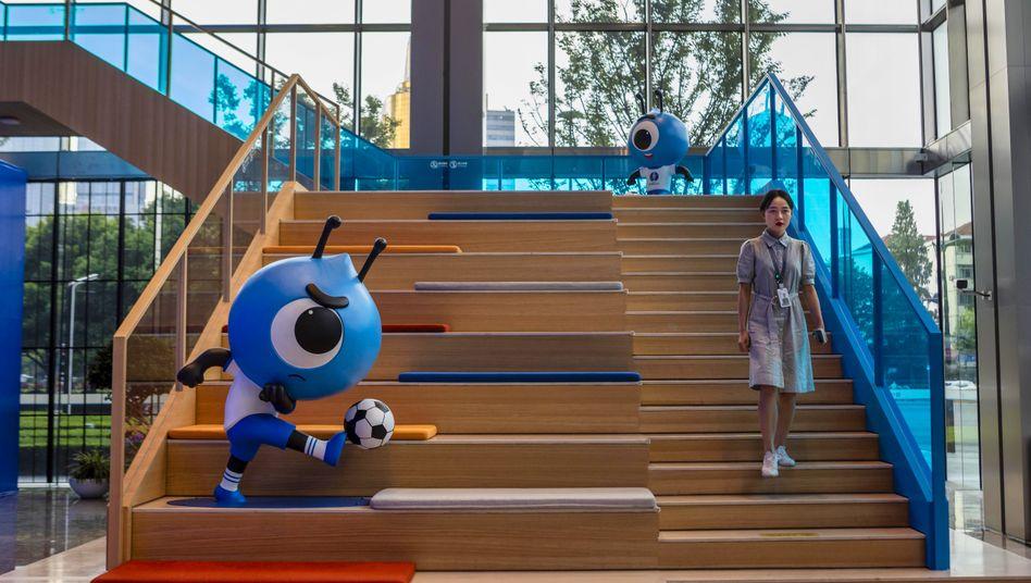 Ant-Zentrale in Shanghai, China: Der Börsengang der Alibaba-Tochter wird wohl noch größer als der bisherige Rekord-IPO von Saudi Aramco werden