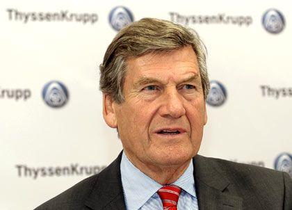 Sieger: ThyssenKrupp-Chef Schulz nahm die Auszeichnung für den besten Geschäftsbericht entgegen